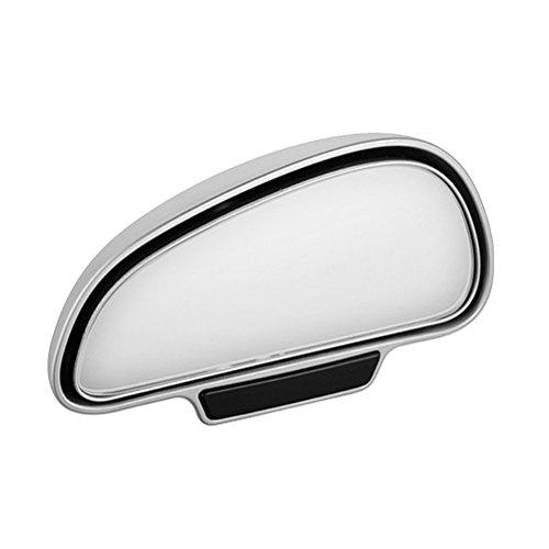 WINOMO 360-Grad-breite Rückseiten-Spiegel-toter Punkt-Spiegel für das Parken des zusätzlichen Rückspiegels (silberne rechte Seite)