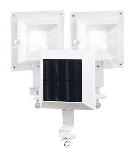 Lunartec Solarleuchte Dachrinne: 3er-Set Solar-LED-Dachrinnenleuchte, 20 lm, 0,2 W, Licht-Sensor, weiß (Dachrinnenbeleuchtung Solar LED)
