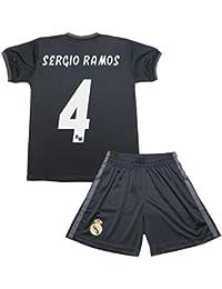 fd17715e67a5b Real Madrid Kit Segunda Equipación Infantil Sergio Ramos Producto Oficial  Licenciado Temporada 2018-2019 (