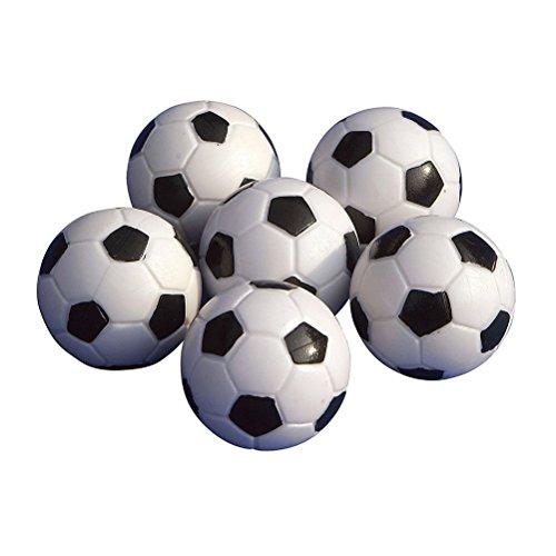 UEETEK 6pcs 32mm mesa Mini pelotas de fútbol para actividades deportivas