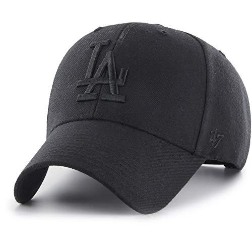 Bke-wolle (47Brand MVP Adjustable Cap LA Dodgers B-MVPSP12WBP-BKE Schwarz Schwarz, Size:ONE Size)