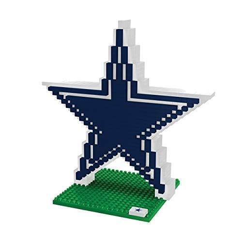 FOCO Dallas Cowboys Logo NFL 3D BRXLZ Juego de construcción