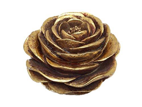 Dose Schmuckdose Deko Rose Antikgold Durchmesser 12 cm