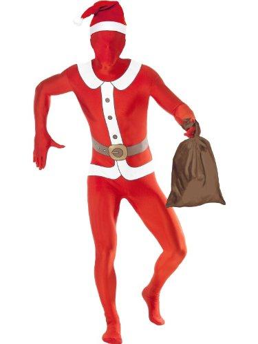 Smiffys Santa zweite Haut–Weihnachten–Erwachsene Kostüm–Mittel–38–40