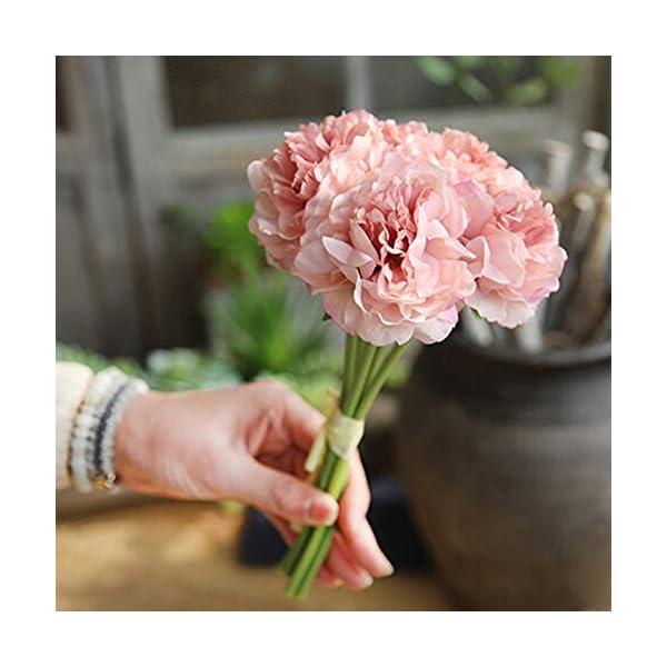 bdrsjdsb Ramo Realista Artificial Peonía Flor De Seda Fotografía Prop Boda Fiesta Floral Café Casa Decoración Rosa