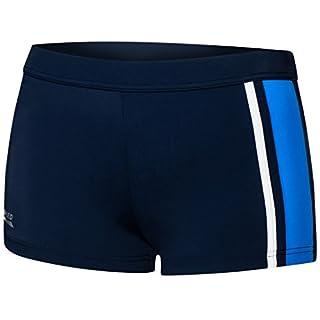 Aqua Speed® AMOS Herren Badehose | Schwimmhose | S-XXXL | Modern | Malaga Gewebe UV-Schutz | Chlor resistent | Kordelzug, Größe:XXXL, Farbe:42 Navy Blue White