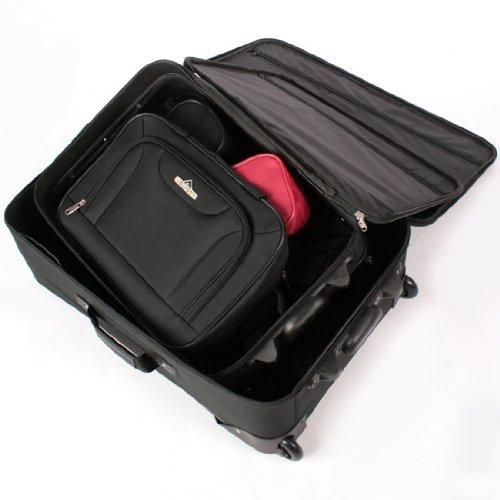 5 tlg. Kofferset Trolley Reisekoffer Koffer ink. Kulturbeutel ineinander Stapelbar - 6