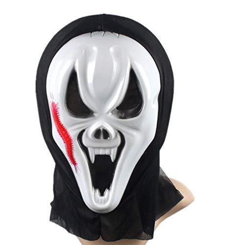 AND Einzelne Horror Maske Screaming Maske Halloween Ghost Festival Gesichtsmaske (Halloween-kostüme White Guy)