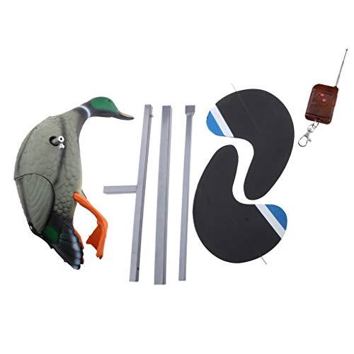 SunniMix Elektrische Fliegende Ente Lockvogel Jagd Lockvögel Vogelscheuche Spielzeug Mit Fernbedienung - Enterich -