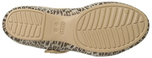 Crocs Cleovgrphsndlw, Ciabatte Donna Multicolore (Leopard/Black)