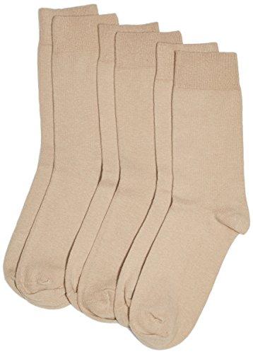 Camano Unisex - Erwachsene Socken 3403 CA-SOFT 3er Pack, Gr. 39/42 (Herstellergröße: 39/42), Beige (sand 18)