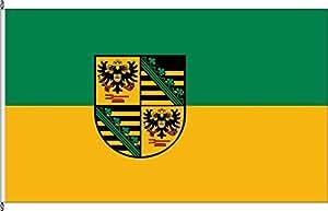 Königsbanner Tischfähnchen Landkreis Saalfeld-Rudolstadt - Tischflaggenständer aus Holz