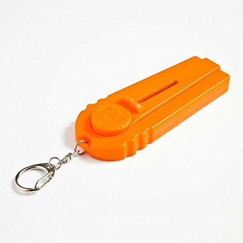 cestlafit portachiavi con apribottiglie, Zappa birra apribottiglie, divertente Launcher, Tappo Launcher spara, riprese su 5metri, Arancione