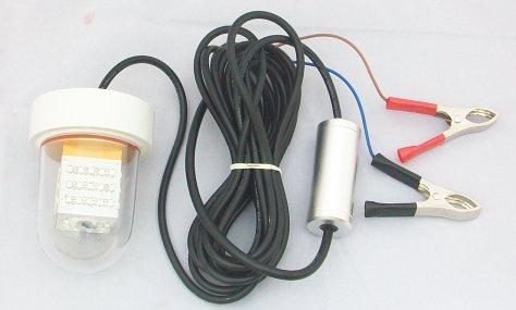 Hanchen Tauchlampe LED Angellampe Fischlocker Nachtfisch Finder Wasserdicht Unterwasser 12-24 V 18 W, weiß