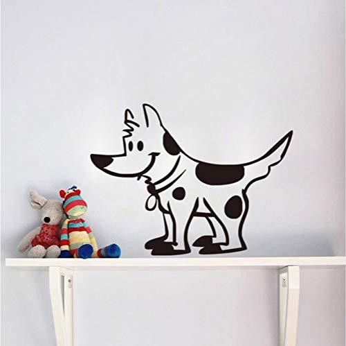 Wuyyii 57X44 Cm Cartoon Flecken Hund Vinyl Wandaufkleber Abnehmbare Puppy Wall Paper Kinderzimmer Kunstwand Aufkleber Wohnkultur (Puppy Halloween Wallpaper)