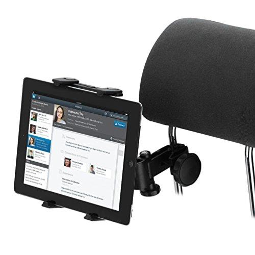 Preisvergleich Produktbild NuoYo Halterung Kopfstütze Halterung Auto Car Holder Halter,Gebündelt in den hinteren Sitz,Erweiterte Angebot 12-22cm,Schwarz