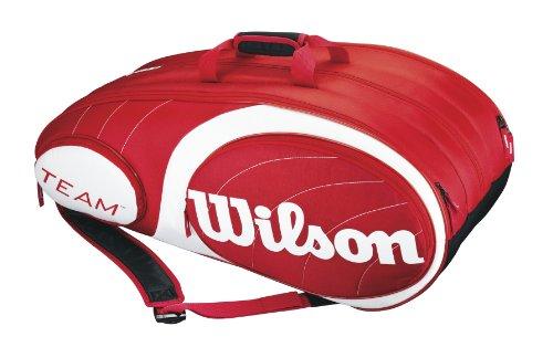 Wilson Schlägertasche Team 12er Pack, red/white