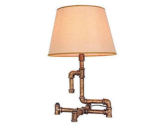 Pipe Pendelleuchte (WENYAO Kreative Eisenpfeife Edison Pipe Lampe Industrie Retro Geschenk Cafe Bar Wasserpfeife Eisen Tischlampe Kind Schreibtisch Schreibtischlampe Büro Schreibtischlampe, b)