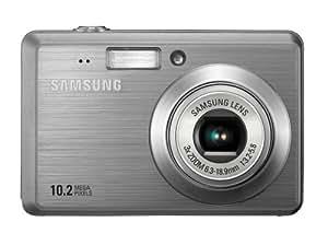Samsung ES55 Digitalkamera (10 Megapixel, 3-fach opt. Zoom, 6,4 cm (2,5 Zoll) Display, Bildstabilisator) silber