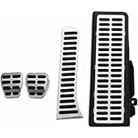 GOZAR 4Pcs Embrague Combustible Freno Pie Resto Mt Pedales Almohadillas De Acero Para Vw Jetta Mk5