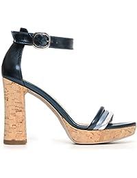 NERO GIARDINI sandali donna laminato bronzo nr. 36 P805845D 5845