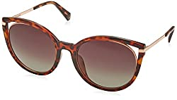 Polaroid Sunglasses Womens Pld4067fs Polarized Oval Sunglasses, Dkhavana, 57 mm