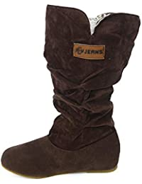 Elecenty Stivali Tacco alto donna Stivaletti Nubuck Motorcycle Boot Autumn  Winter Shoes 6f22db2143c