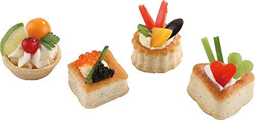 48 Stück Mini-Pastetchen-Sortiment, Neutral   4 Verschienede Formen