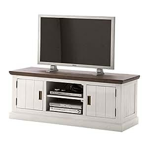 tv board lowboard gomara holz akazie antik wei braun landhausstil breite 155 cm tiefe 55 cm. Black Bedroom Furniture Sets. Home Design Ideas