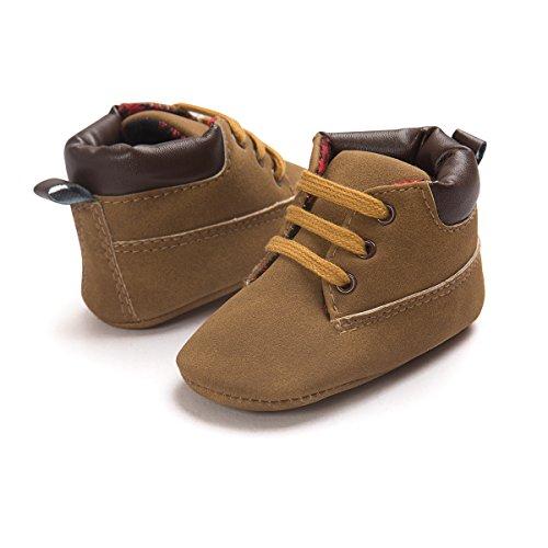 Schuhaufladungen F眉r 0 lederne weiche 18 Auxma Baby Schuhe 12 Prewalker Babyjungen Braun 12M 6 Schuhe Marine Monate 5UBqnzS