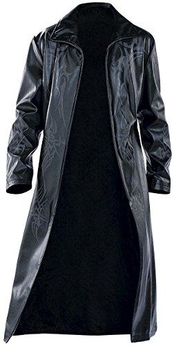 Manteau Tribal Manteau imitation cuir noir Noir
