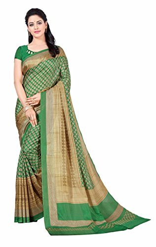 Miraan Printed Art Silk Saree for women with blouse (5912)