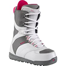 Burton Coco - Botas de snowboard para mujeres, color multicolor (blanco - gris), talla 40 (US 8) (UK 6)