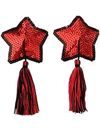 Czj-Innovation Reutilizable Pezoneras Pasties Rojo Forma de estrella