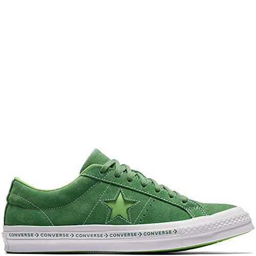 Converse Unisex-Erwachsene Lifestyle One Star OX Suede Fitnessschuhe, Grün (Mint Green/Jade Lime/White 350), 42 EU (Jade Schuhe Grün)