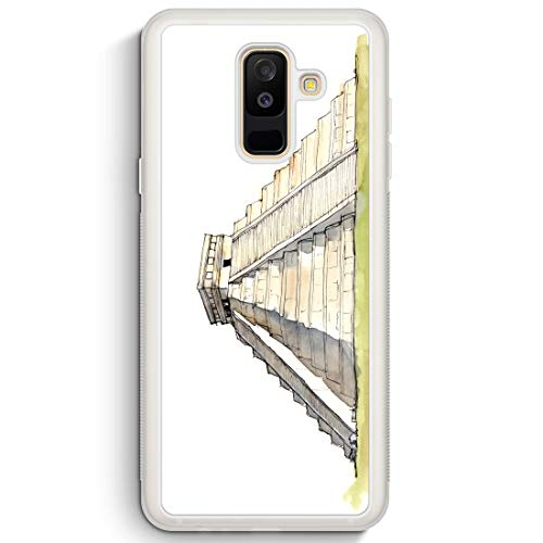 Mexiko Schal (EL Castillo Kukulcan - Frosted Silikon Hülle für Samsung Galaxy A6+ Plus (2018) - Motiv Design Mexiko Schön - Handyhülle Schutzhülle Cover Case Schal)
