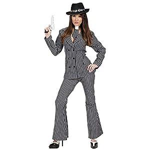WIDMANN Desconocido Disfraz de Gangster Mujer con Pantalon