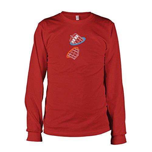 TEXLAB - Doctor Portal - Langarm T-Shirt Rot