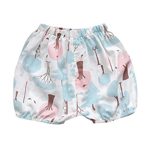WQIANGHZI Kleinkind Baby Mädchen Jungen Cotton Linen Sommer Blend Cute Bloomer Shorts Gaze Shorts, Hosen -