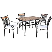 Tavoli Da Giardino Mosaico Prezzi.Amazon It Tavolo E Sedie Da Giardino Mosaico