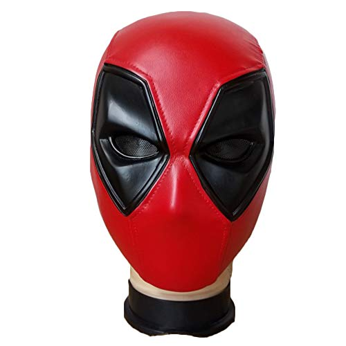 Held Cosplay Kostüm Halloween Kopf Maske Party Dress Up Full Face Film Kostüm Gesichtsmaske,Red-23.5cm*19cm*20.5cm ()