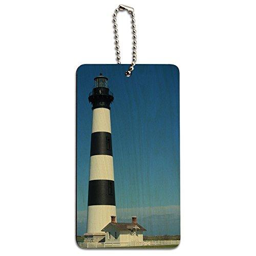Bodie Island Lighthouse North Carolina Holz ID-Tag Gepäck-Koffer