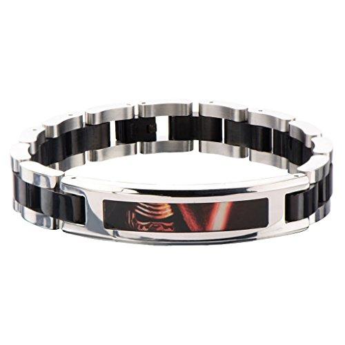 Star Wars: Episode 7schwarz PVD vergoldet Kylo REN ID Link Armband Edelstahl