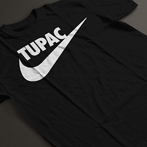 Tupac Shakur Nike Tick Logo Women's T-Shirt Black