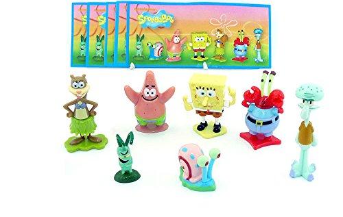 Kinder Überraschung, un juego Bob esponja Figuras de 2012 con todos Folletos