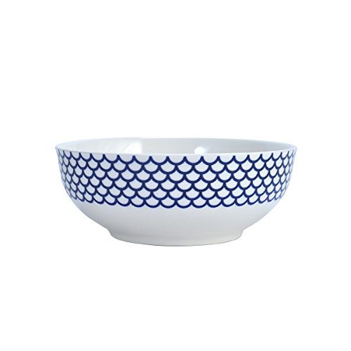 Mikasa Lavina White Vegetable Bowl, 9.5-Inch Formale Soup Bowl