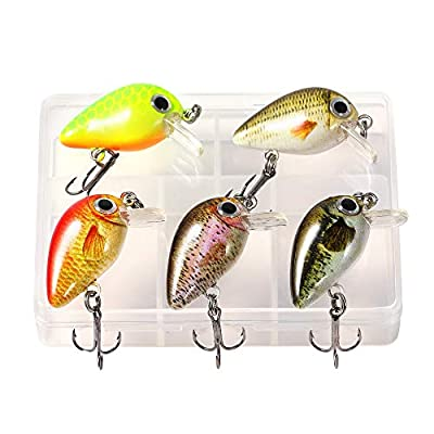 TRUSCEND Fishing Lures Set 5PCS Topwater Diving Swimbait Crankbait Fishing Wobble Multi Jointed Hard Baits for Bass Trout Freshwater and Saltwater by TRUSCEND