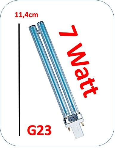 UVC Teich-Lampe G23 Sockel 11 Watt 7 Watt kompatibel f. T.I.P. PMA 16000 UV 13. 25,5cm lang (7 Watt) (Garten-oase Sockel)
