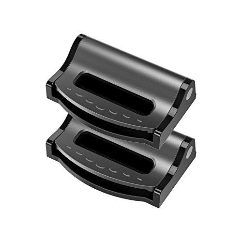 Argent Volkswagen Seat réglable clip ceinture sécurité bouchon Voyage Voiture 2 Pcs