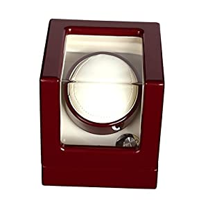 LWBAN-Packing Uhrenbeweger watch winder automatic single 1 4 Timer Modi Premium-Silent-Motor, 1+0, red